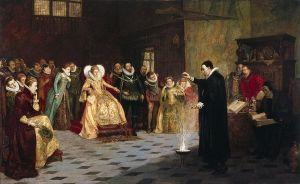 John Dee performing an experiment before Elizabeth I - Henry Gillard Glindoni (188?)