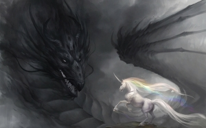 Dragon and Unicorn copyright Kali01